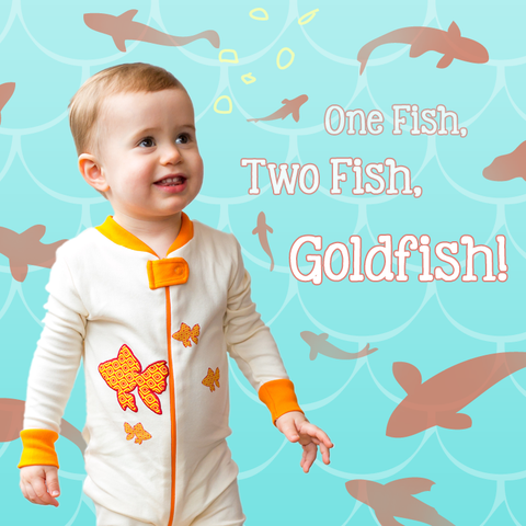 Fish Footie - Orange, 100% Organic Cotton - Baby Hero - 2