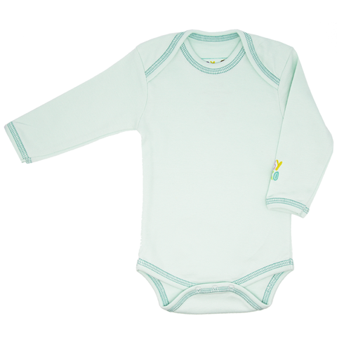 Ravi Onesie - Turquoise - Long-Sleeve, 100% Organic Cotton