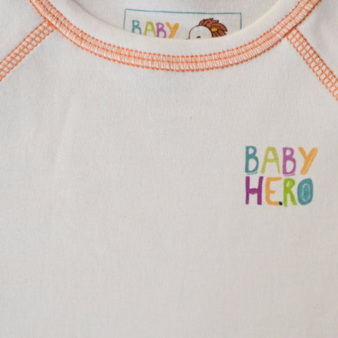 Zhob Tee - Orange - Long-Sleeve, 100% Organic Cotton - Baby Hero - 2