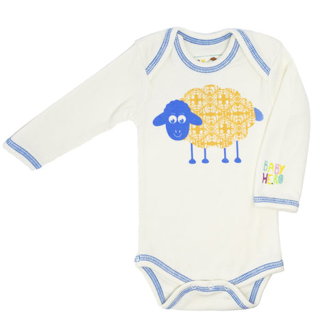 Sheep Onesie - Pink - 100% Organic Cotton - Baby Hero - 4