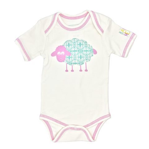 Sheep Onesie - Pink - 100% Organic Cotton - Baby Hero - 1