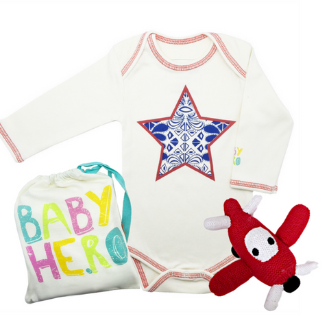 Fly High Gift Set - Onesie + Rattle
