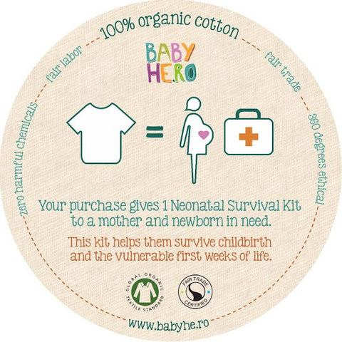 Ketu Tee - Pink - Short-Sleeve, 100% Organic Cotton - Baby Hero - 5