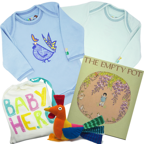 Ultimate Year of the Rooster Gift Set - Blue - Onesies + Book + Toy