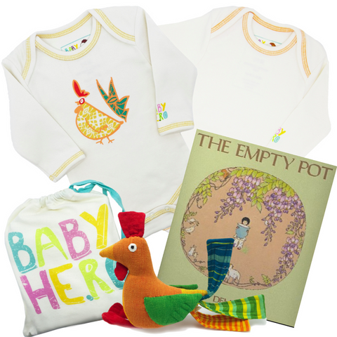 Ultimate Year of the Rooster Gift Set - Yellow - Onesies + Book + Toy