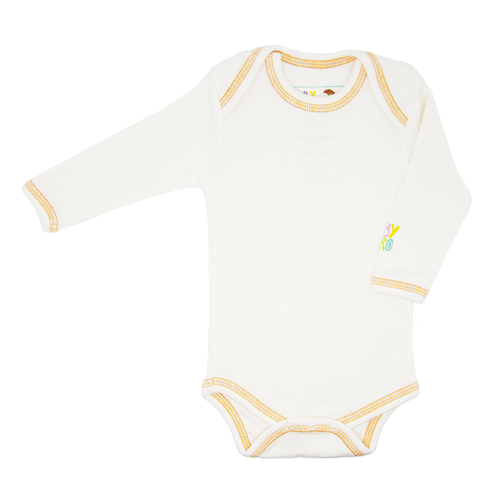 Zhob Onesie - Orange - Long-Sleeve, 100% Organic Cotton