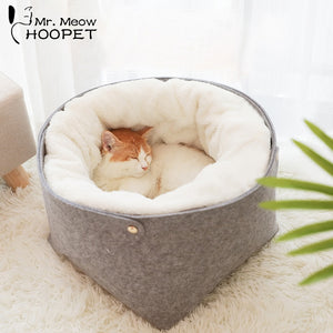 Hoopet Cat Bed Cat House Pet Dog House for Cat Bench for Cats Cotton Pets Products Puppy Soft Comfortable Winter House