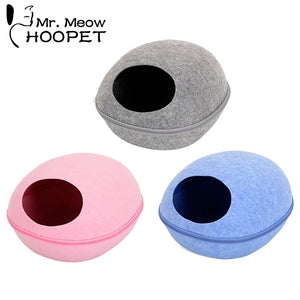 Hoopet Cat House Pet Cat Bed Round Kitten Hole House Bench for Dog Puppy Cat Home Nest Pet Supply Cat Basket Kennel