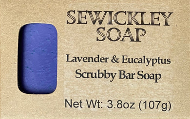 Lavender & Eucalyptus Scented Scrubby Bar Soap