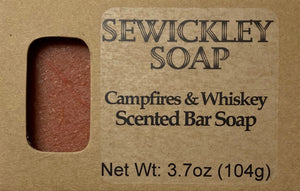 Campfire Whiskey Scented Bar Soap