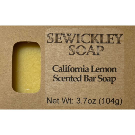 California Lemon Bar Soap