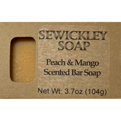 Peach & Mango Scented Bar Soap