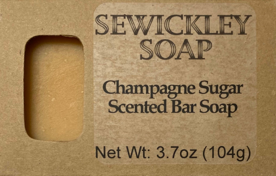 Champagne Sugar Bar Soap