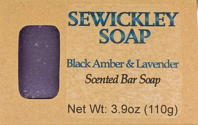 Black Amber & Lavender Bar Soap