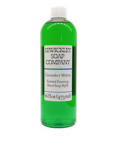 Cucumber Melon Scented Foaming Hand Soap - 16oz Refill