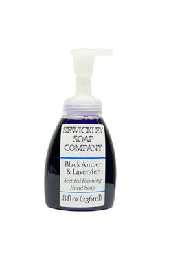 Black Amber & Lavender Scented Foaming Hand Soap