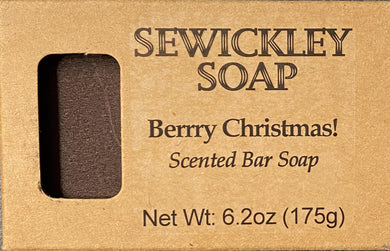 Berrry Christmas Scented Bar Soap - Jumbo Bar