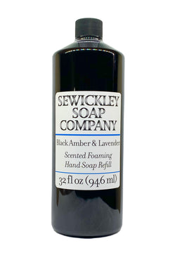 Black Amber & Lavender Scented Foaming Hand Soap - 32oz Refill