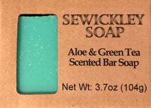 Load image into Gallery viewer, Aloe & Green Tea Bar Soap
