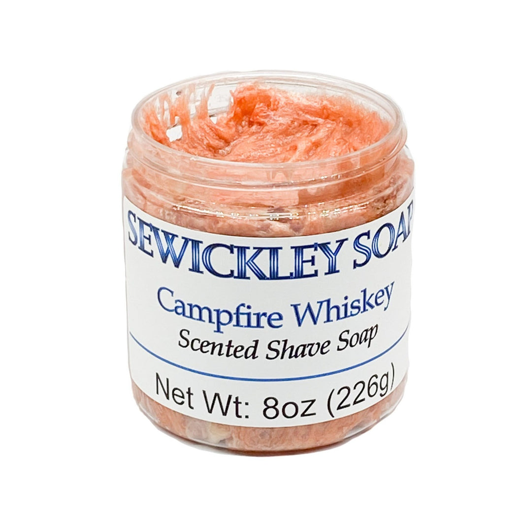 Campfire Whiskey Scented Shaving Soap