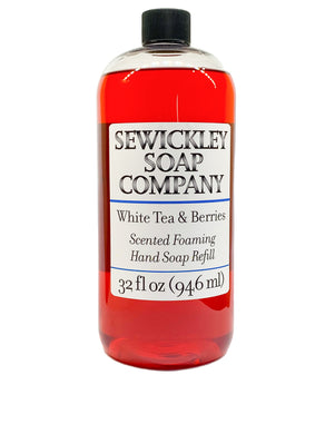 White Tea & Berries Scented Foaming Hand Soap - 32oz Refill