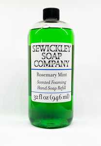 Rosemary Mint Scented Foaming Hand Soap - 32oz Refill