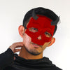 Short Horned Skull Mask - Red