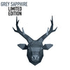Deer Head Wall Art - Grey Sapphire Limited Edition