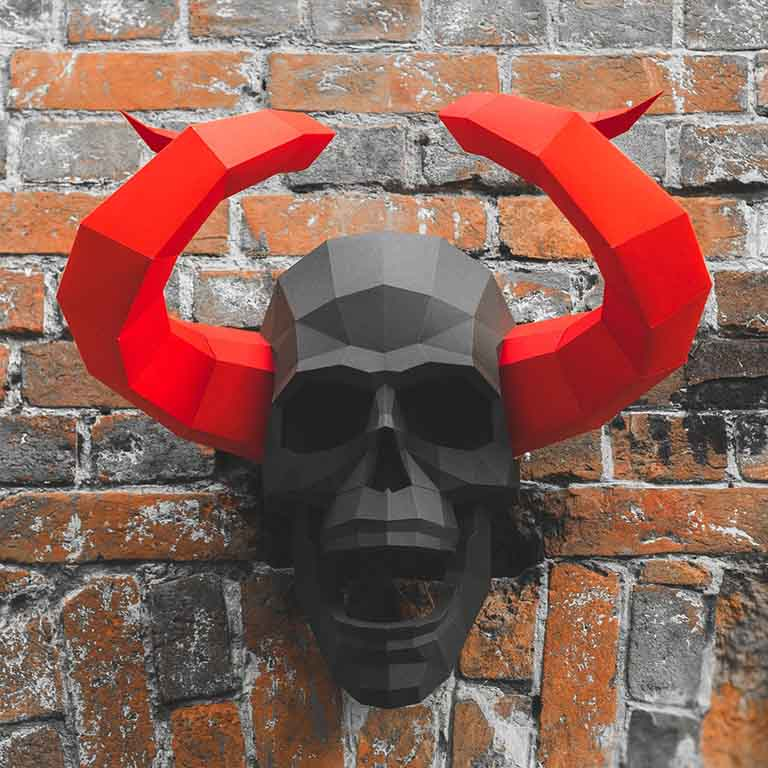 Horned Skull Wall Art