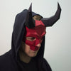 Long Horned Skull Mask - Red