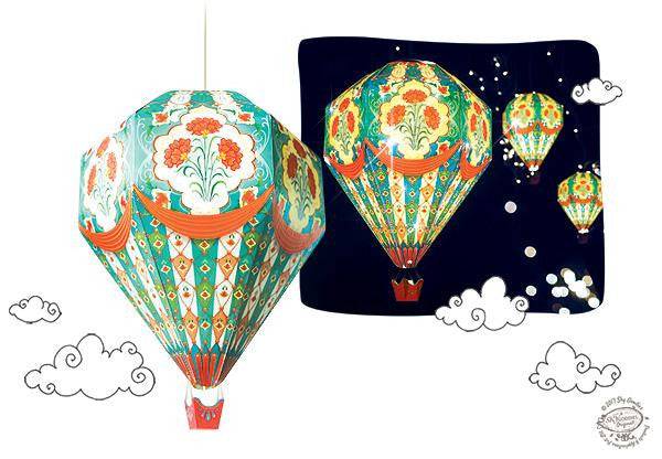 Small DIY Hot Air Balloon Lamp Shade