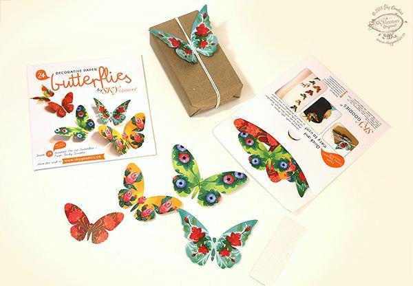 Decorative Paper Butterflies (Set of 24)