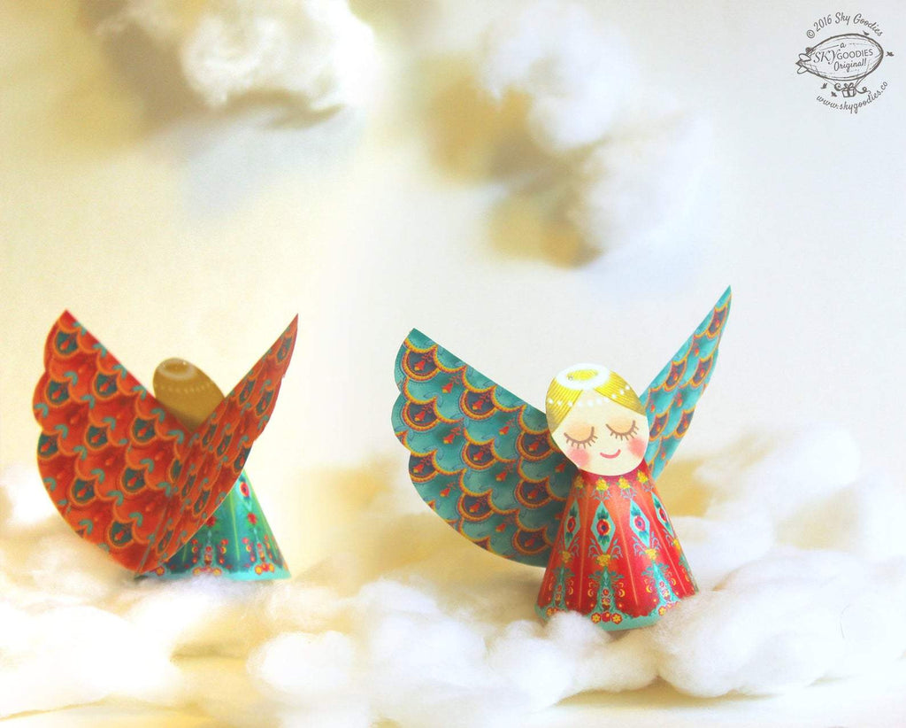 Decorative Paper Angels (Set of 6)