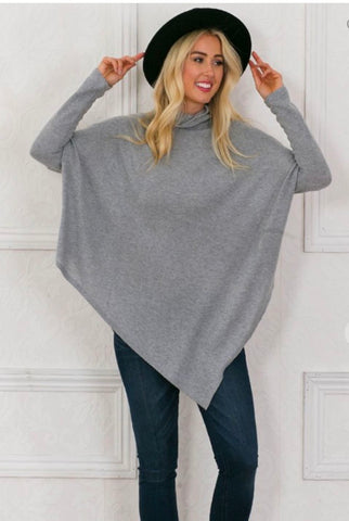 Asymmetrical Poncho Wanna B