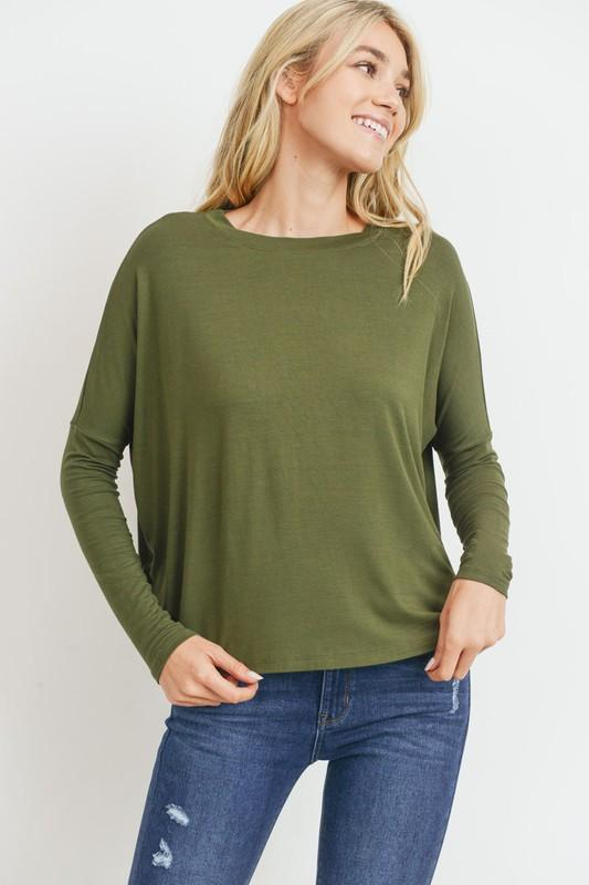 Basic Longsleeve Knit Top SNAP-Something New And Pretty