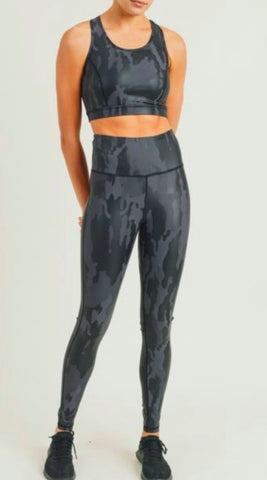 Image of Camo Foil Sports Bra Mono B