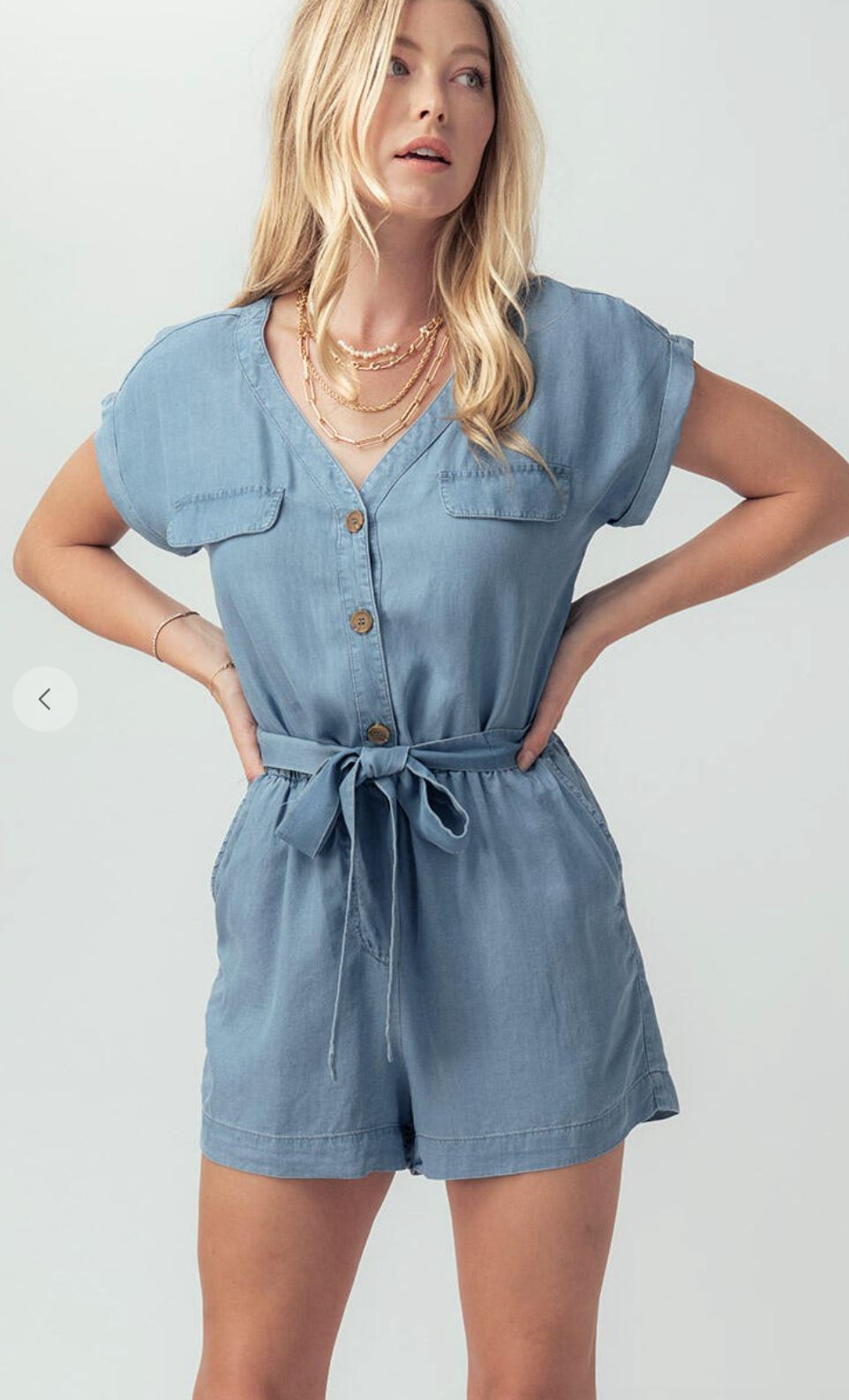 Chambray Romper Trend Notes