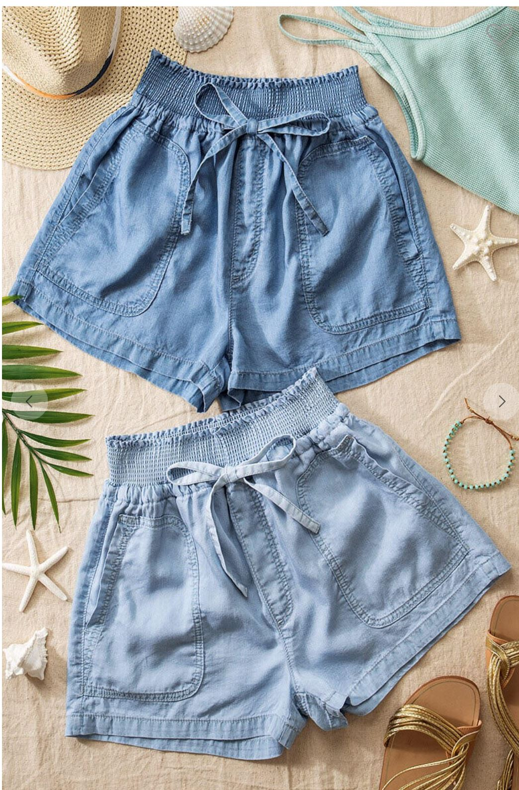 Chambray Tie Waist Short Trend Notes