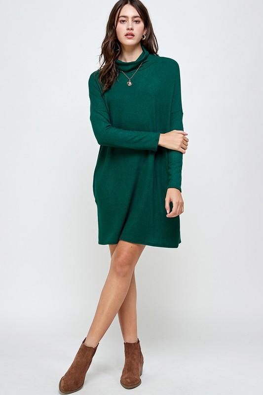 Cowl Neck Sweater Dress Dress 2 hearts