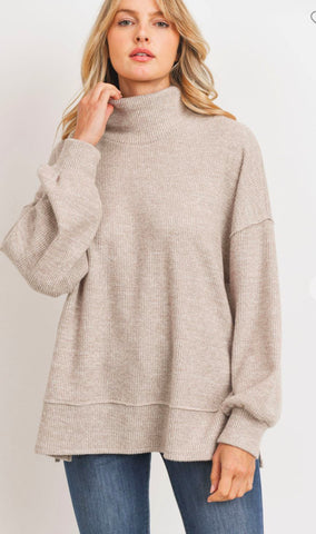 Cowl Neck Thermal Sweater Cherish