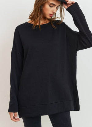 Crew Neck Long Sweater Cherish