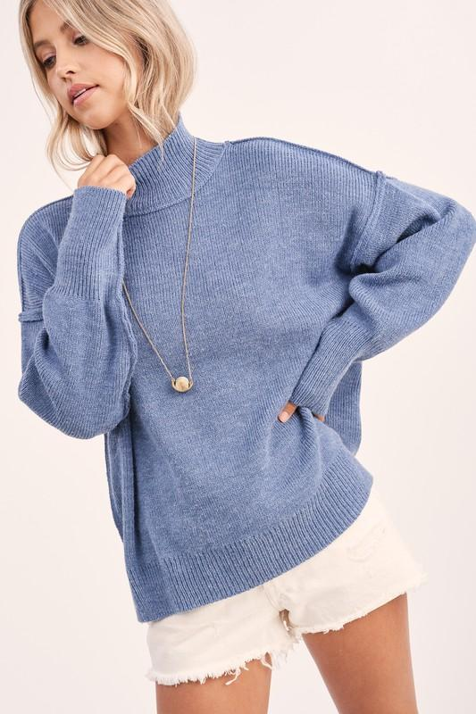 Dolman Mock Neck Sweater LA MIEL
