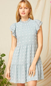 Dotted Mock Neck Dress entro
