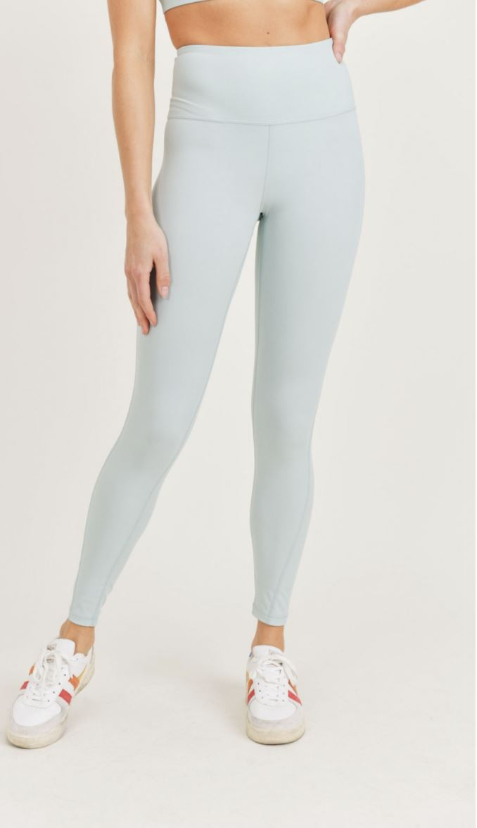 Essential Lycra-Blend Highwaist Leggings Mono B