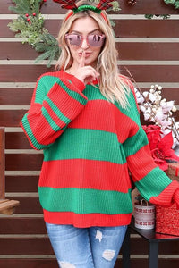 Festive Stripe Sweater Sweater and the why