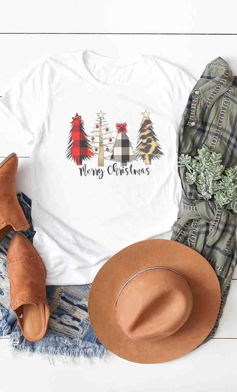 Festive T-shirts t-shirt Kissed Apparel small Plaid Trees