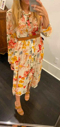 Floral Button Down Dress Aly Daly