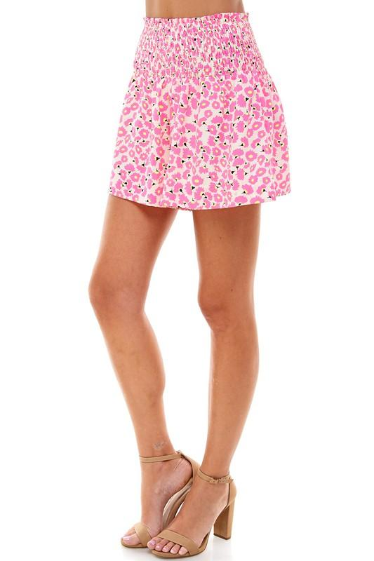 Floral Smocked Waist Shorts bottom TCEC