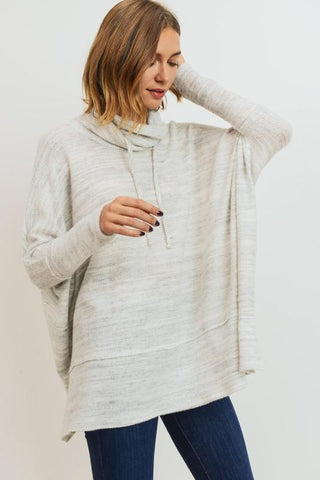 Funnel Neck Side Slit Sweater pullover Cherish