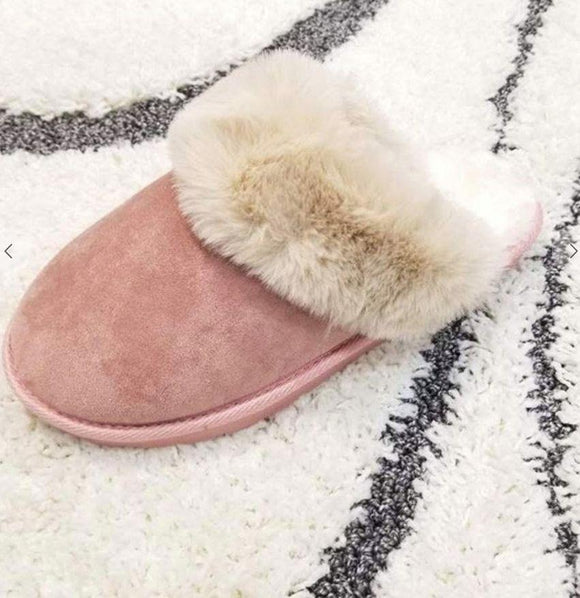 Fur slippers shoes lets ee style